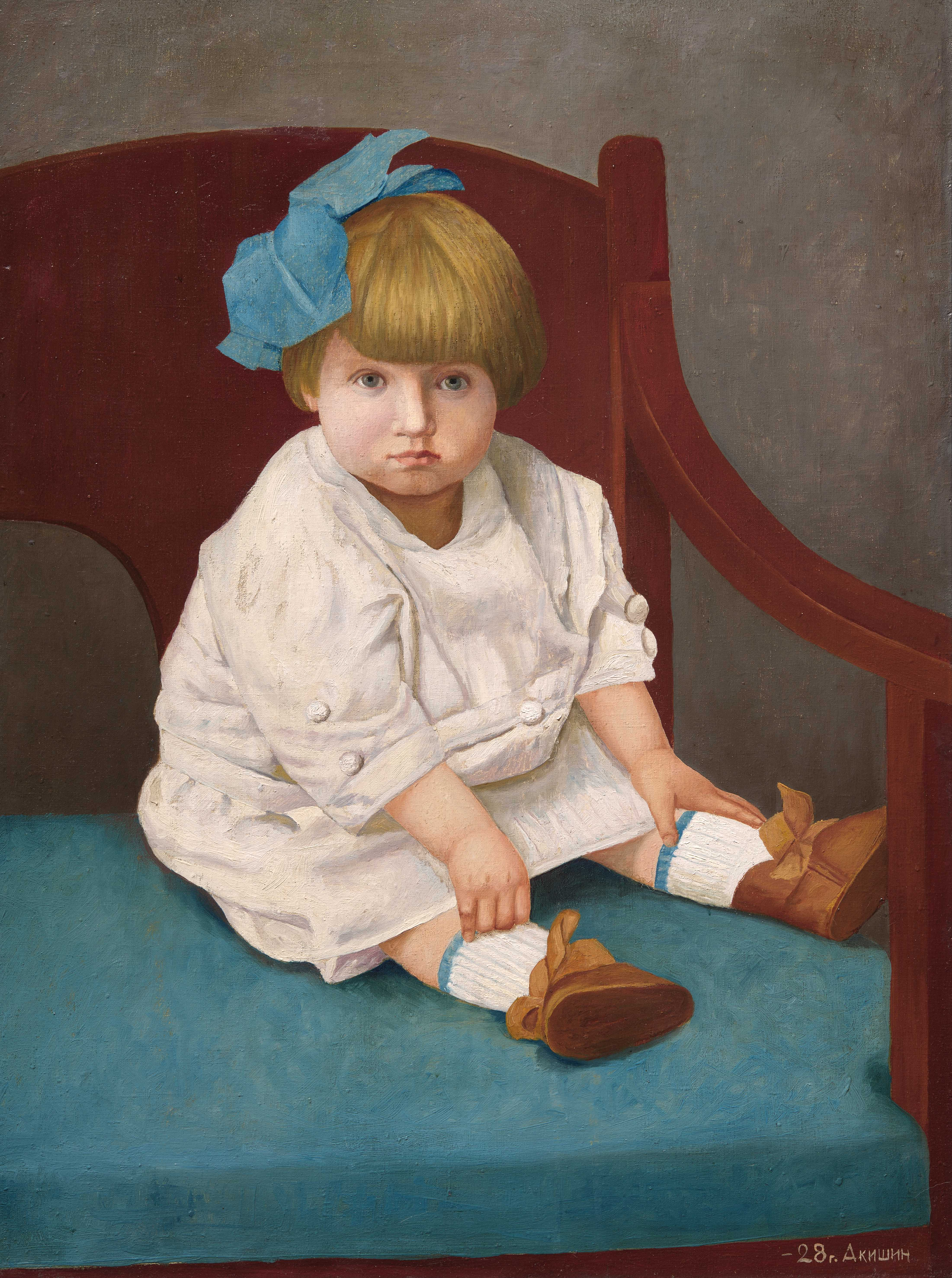 Portrait of a Girl. 1928. Oil on canvas. 89.4 x 67. Private collection. St Petersburg