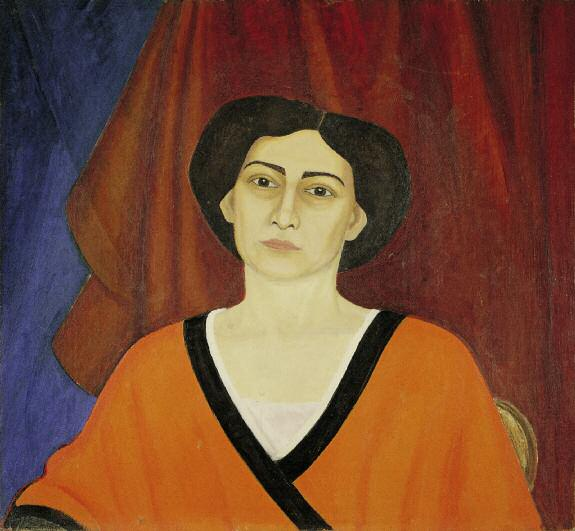 Portrait of Evgenia Kaplan. 1915 (?). Oil on canvas. 67.8 x 73.5. Russian Museum