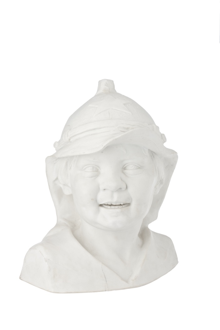 Sculpture Pioneer. 1934, produced at the end of the 1940s. Bisque. Height: 25.5. No marks. Lomonosov State Porcelain Factory.