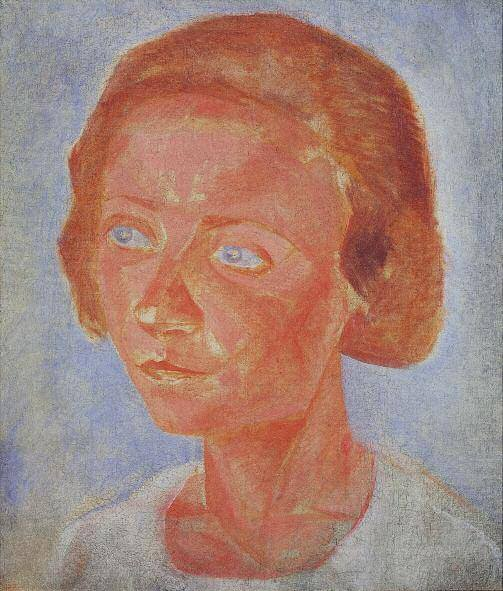 Portrait of Sofya Trivush. Between 1920 and 1922. Oil and wax tempera on canvas. 62 x 53.5. Private collection, St Petersburg