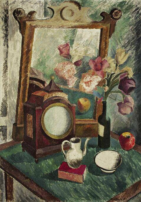 Still Life with Mirror and Clock. 1927. Oil on canvas. 125.5 x 87. Private collection, St Petersburg