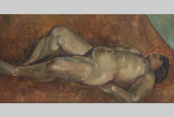 Reclining Nude. Between 1930 and 1932. Oil on canvas. 125 x 65. Private collection, St Petersburg