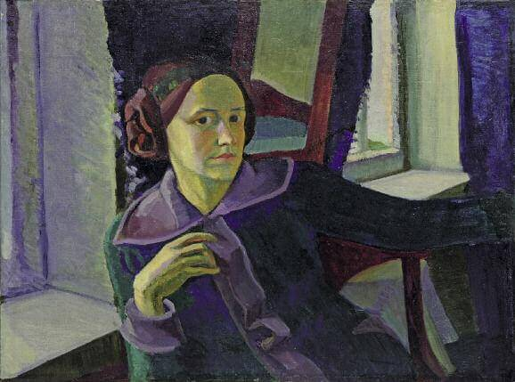 Winter. Self-Portrait. 1914. Oil on canvas. 62.5 x 84. Private collection