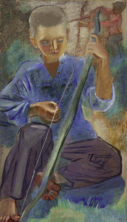 Стрелки из лука. 1929–1930. Холст, масло. 107 x 62,5. ГРМ