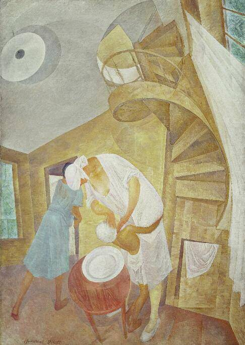 Head Washing. 1923. Oil and tempera on canvas. 132 х 97. Russian Museum