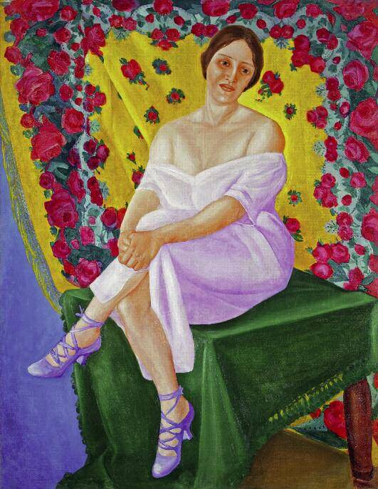 Portrait of a Ballerina. Mid-1910s. Oil on canvas. 133 x 102. Private collection. St Petersburg