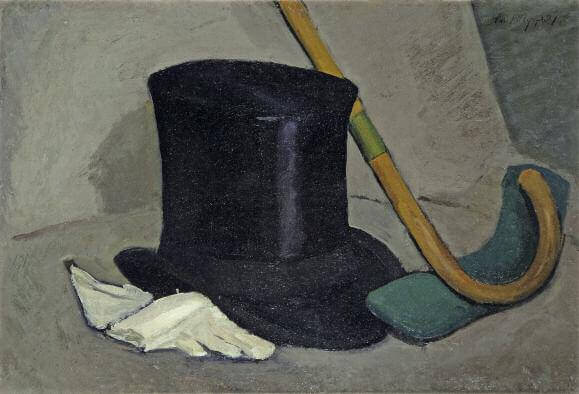 Still Life with Top Hat. 1921. Oil on cardboard. 31 x 45.5. Private collection. St Petersburg